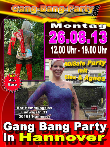 gangbang party hannover gleitgel silikon